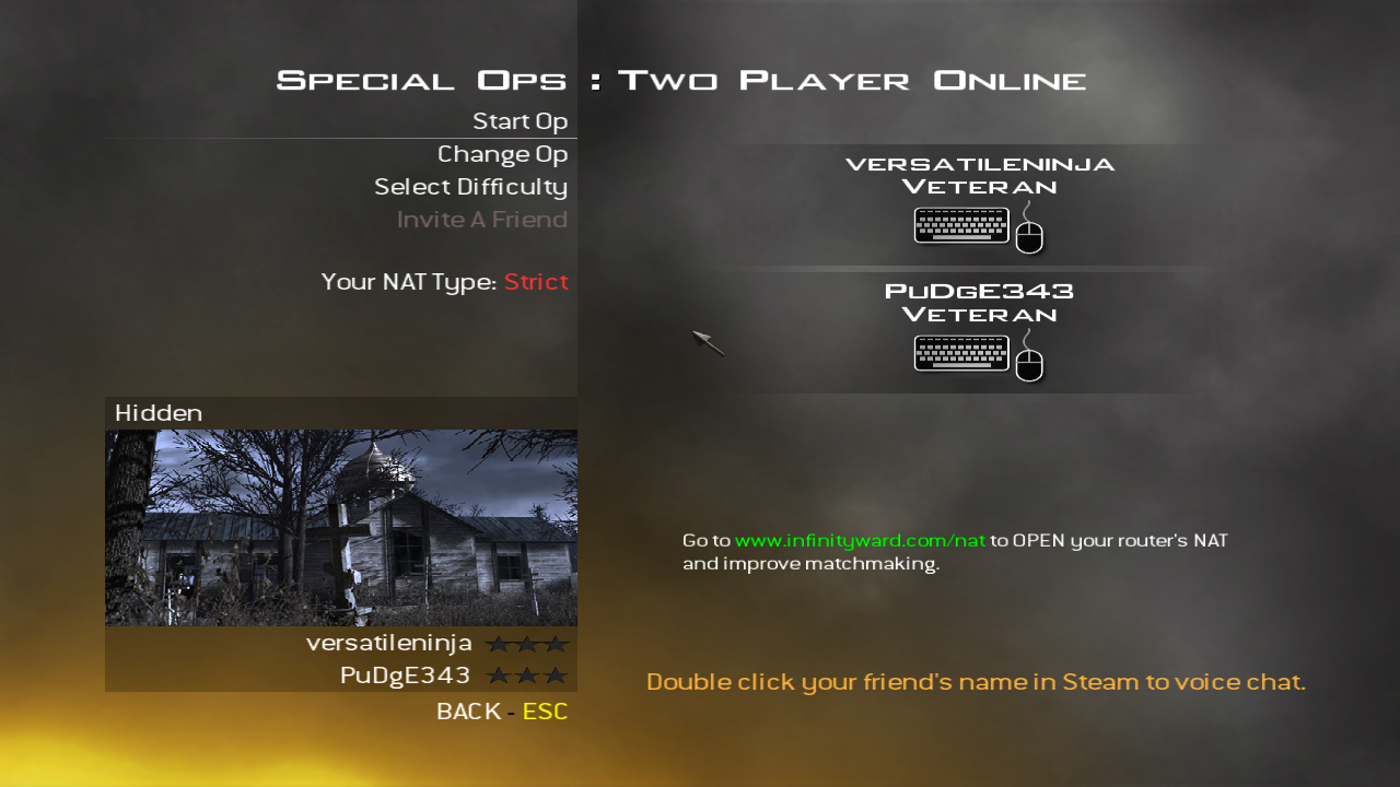 Connecting to matchmaking server modern warfare 2