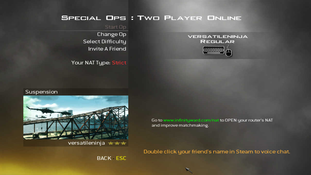 Cannot connect to matchmaking server mw2